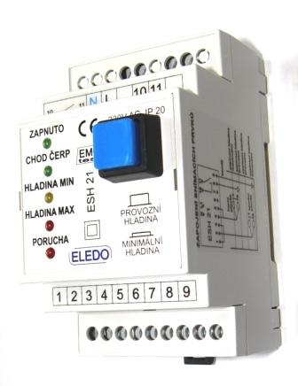 Řídící modul ESH21 - patentovaný způsob snímání hladin