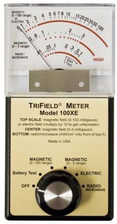 TRIFIELD 100XE EMF měří magnetoelektrické rádiové vlny, Gaussmeter, elektrosmog