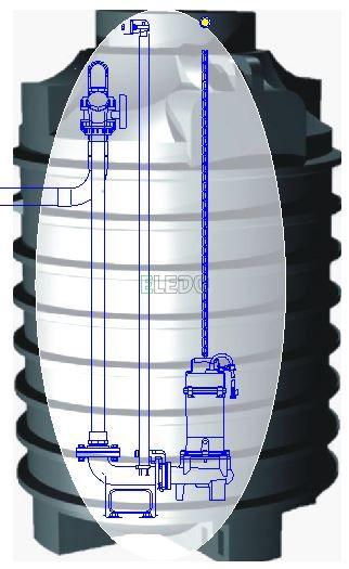 SATIS DUO vystrojená kompletní čerpací jímka pro dvě čerpadla